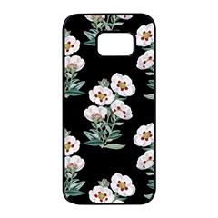 Floral Vintage Wallpaper Pattern 1516863120hfa Samsung Galaxy S7 Edge Black Seamless Case