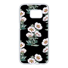 Floral Vintage Wallpaper Pattern 1516863120hfa Samsung Galaxy S7 Edge White Seamless Case