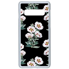 Floral Vintage Wallpaper Pattern 1516863120hfa Samsung Galaxy S10 Seamless Case(white)