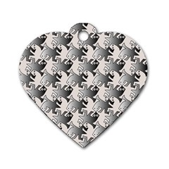 Seamless 3166142 Dog Tag Heart (one Side)