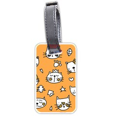 Cute Simple Orange Cat Seamless Pattern Luggage Tag (one Side) by Sobalvarro