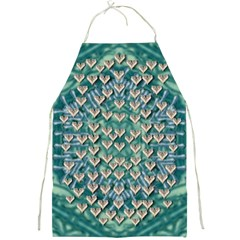 Heavy Metal Hearts And Belive In Sweet Love Full Print Apron by pepitasart
