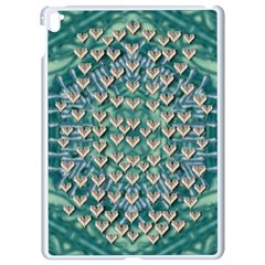 Heavy Metal Hearts And Belive In Sweet Love Apple Ipad Pro 9 7   White Seamless Case by pepitasart