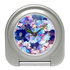 Flowers Travel Alarm Clock by Sparkle