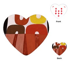 Sophie Taeuber Arp, Composition À Motifs D arceaux Ou Composition Horizontale Verticale Playing Cards Single Design (heart) by Sobalvarro