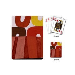 Sophie Taeuber Arp, Composition ¨¤ Motifs D arceaux Ou Composition Horizontale Verticale Playing Cards Single Design (mini) by Sobalvarro