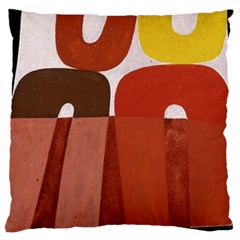 Sophie Taeuber Arp, Composition À Motifs D arceaux Ou Composition Horizontale Verticale Large Flano Cushion Case (two Sides) by Sobalvarro