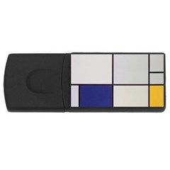 Tableau I, By Piet Mondriaan Rectangular Usb Flash Drive by Sobalvarro
