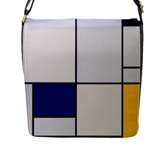 Tableau I, By Piet Mondriaan Flap Closure Messenger Bag (l) by Sobalvarro