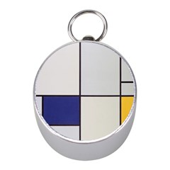 Tableau I, By Piet Mondriaan Mini Silver Compasses by Sobalvarro