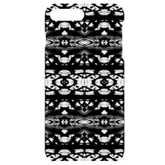 Black And White Modern Ornate Stripes Design Iphone 7/8 Plus Black Uv Print Case by dflcprintsclothing