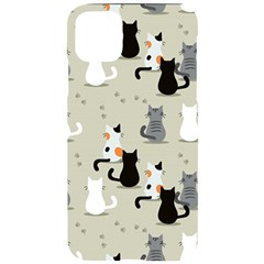 Cute Cat Seamless Pattern Iphone 11 Pro Max Black Uv Print Case