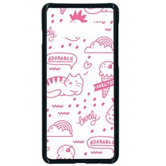 Cute Girly Seamless Pattern Samsung Galaxy S10 Seamless Case(black) by Vaneshart