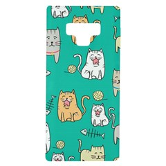 Seamless Pattern Cute Cat Cartoon With Hand Drawn Style Samsung Galaxy Note 9 Tpu Uv Case