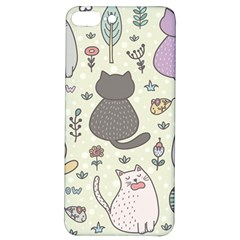 Funny Cartoon Cats Seamless Pattern  Iphone 7/8 Plus Soft Bumper Uv Case by Vaneshart