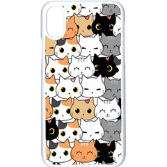 Cute Cat Kitten Cartoon Doodle Seamless Pattern Iphone X Seamless Case (white) by Vaneshart