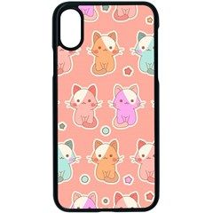 Cute Kawaii Kittens Seamless Pattern Iphone X Seamless Case (black)