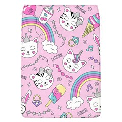 Beautiful Cute Animals Pattern Pink Removable Flap Cover (l)