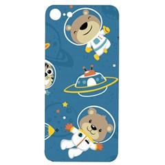 Seamless Pattern Funny Astronaut Outer Space Transportation Iphone 7/8 Soft Bumper Uv Case