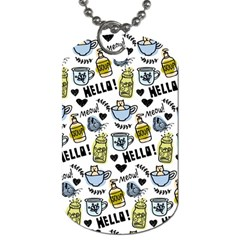 Everyday Things Pattern Dog Tag (one Side)