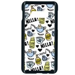 Everyday Things Pattern Samsung Galaxy S10e Seamless Case (black) by Vaneshart