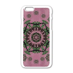 Sakura Wreath And Cherry Blossoms In Harmony Iphone 6/6s White Enamel Case by pepitasart