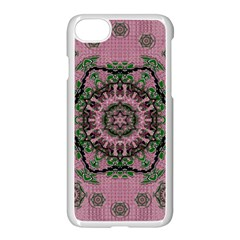 Sakura Wreath And Cherry Blossoms In Harmony Iphone 7 Seamless Case (white) by pepitasart