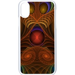 Fractal Fantasy Design Swirl Iphone Xs Seamless Case (white)