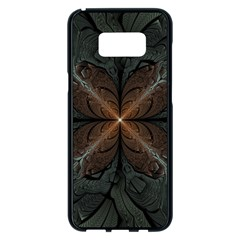 Art Abstract Fractal Pattern Samsung Galaxy S8 Plus Black Seamless Case by Wegoenart