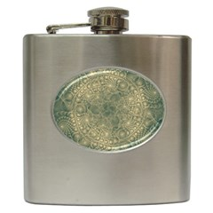Fractal Abstract Background Pattern Hip Flask (6 Oz) by Wegoenart