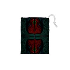 Fractal Abstract Background Pattern Drawstring Pouch (xs) by Wegoenart