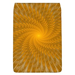 Fractal Abstract Background Pattern Gold Golden Yellow Removable Flap Cover (l) by Wegoenart