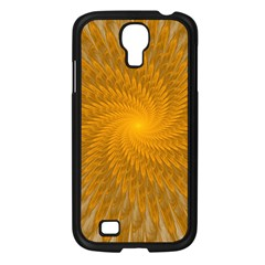 Fractal Abstract Background Pattern Gold Golden Yellow Samsung Galaxy S4 I9500/ I9505 Case (black) by Wegoenart