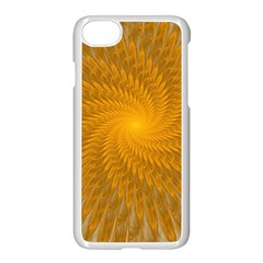 Fractal Abstract Background Pattern Gold Golden Yellow Iphone 8 Seamless Case (white) by Wegoenart