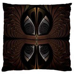 Fractal Abstract Background Pattern Large Flano Cushion Case (one Side) by Wegoenart
