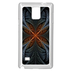 Art Abstract Fractal Pattern Samsung Galaxy Note 4 Case (white) by Wegoenart