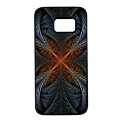 Art Abstract Fractal Pattern Samsung Galaxy S7 Black Seamless Case by Wegoenart