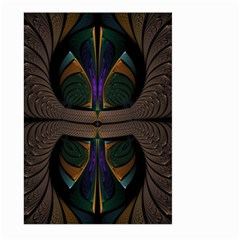 Fractal Abstract Background Pattern Large Garden Flag (two Sides) by Wegoenart