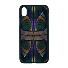 Fractal Abstract Background Pattern Iphone Xr Seamless Case (black) by Wegoenart