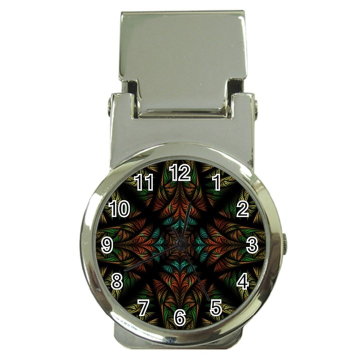 Fractal Fantasy Design Texture Money Clip Watches