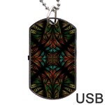 Fractal Fantasy Design Texture Dog Tag USB Flash (One Side) Front