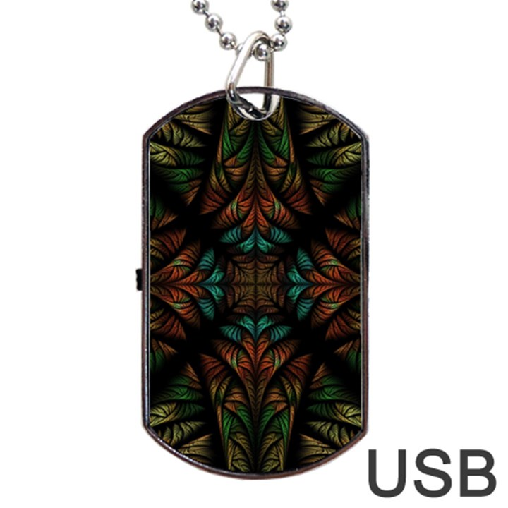 Fractal Fantasy Design Texture Dog Tag USB Flash (One Side)