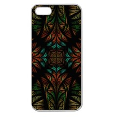 Fractal Fantasy Design Texture Apple Seamless Iphone 5 Case (clear)