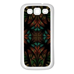 Fractal Fantasy Design Texture Samsung Galaxy S3 Back Case (white)