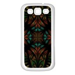 Fractal Fantasy Design Texture Samsung Galaxy S3 Back Case (White) Front