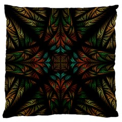 Fractal Fantasy Design Texture Large Flano Cushion Case (one Side)