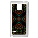 Fractal Fantasy Design Texture Samsung Galaxy Note 4 Case (White) Front