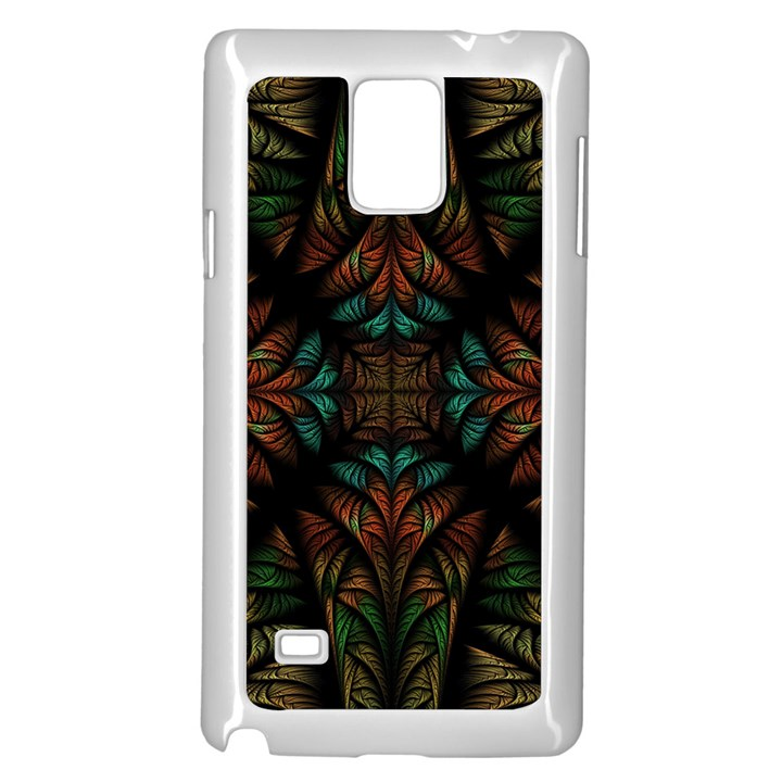 Fractal Fantasy Design Texture Samsung Galaxy Note 4 Case (White)