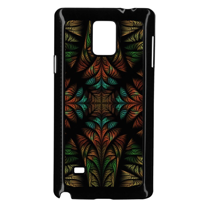 Fractal Fantasy Design Texture Samsung Galaxy Note 4 Case (Black)