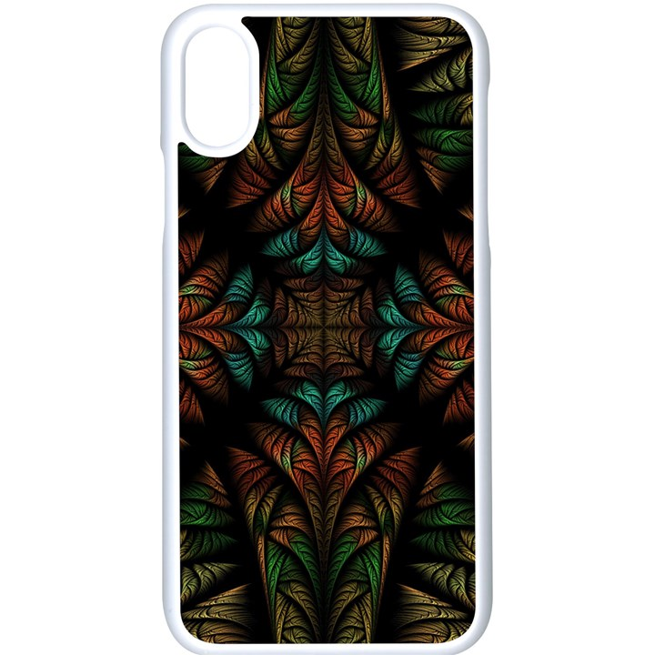 Fractal Fantasy Design Texture iPhone X Seamless Case (White)